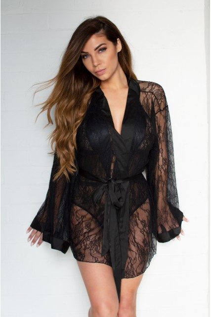 Fab Lace Gown with Satin Details